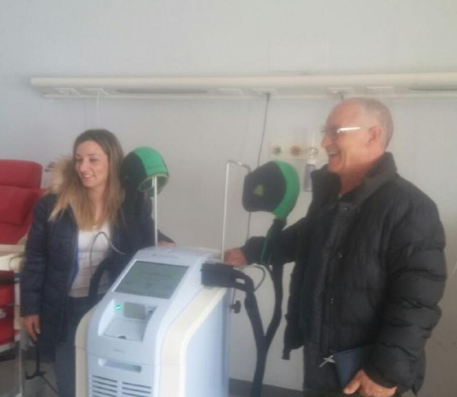 Il primo dei due Dignicap  consegnato all'ospedale San Salvatore de L'Aquila 13 Marzo 2019
