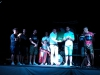 Il presidente dell'A.S.D Amatrice calcio Tito Capriccioli, il dirigente Andrea Teofili e una rappresentanza di giocatori, donano sul palco la maglia rossoblù dell'Amatrice! 17 Giugno 2017