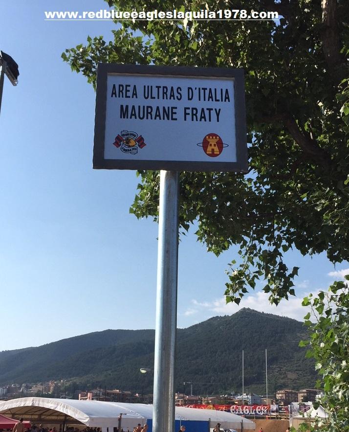 Targa Area Ultras D'Italia Skatepark Maurane Fraty