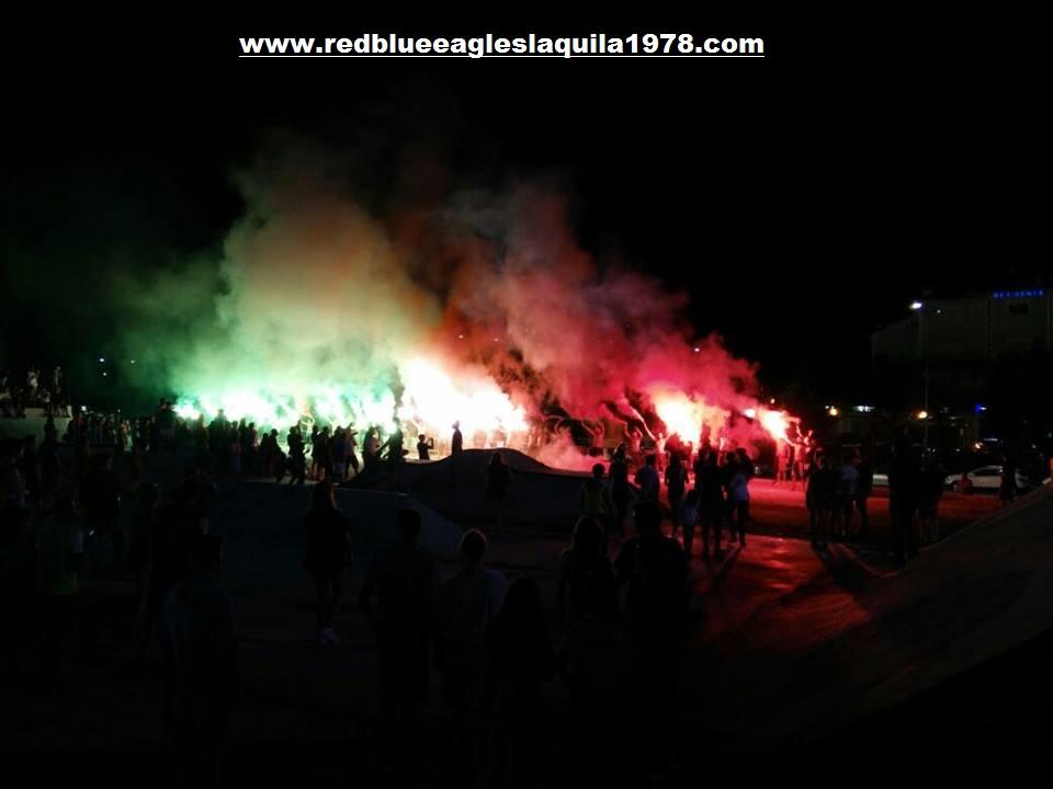 Torciata serale Area Ultras D'Italia Skatepark Maurane Fraty