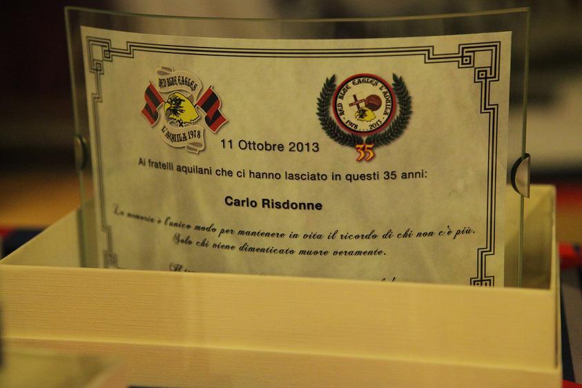 Targa in memoria di Carlo Risdonne Venerdi 11 Ottobre 2013