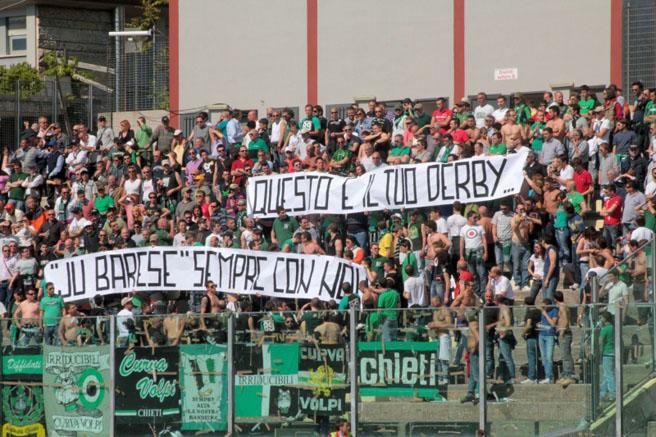 Striscione degli Irriducibili Chieti per Piero 8 Maggio 2011