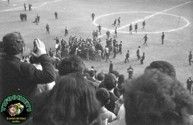 Scontri in campo Chieti-L'Aquila 1963-1964 serie C unica.