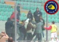 Scontri in tribuna in L'Aquila-Santegidiese 12-03-2006 Eccellenza