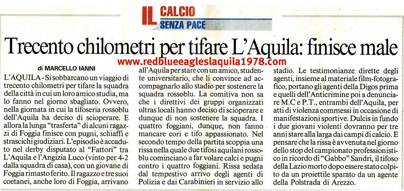 Rissa in Curva sud L'Aquila 18-11-2007 Eccellenza