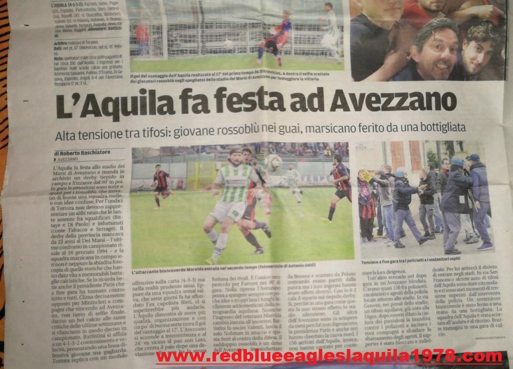 Disordini fuori lo stadio Avezzano- L'Aquila (serie D) 2 Aprile 2017