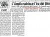 Contestazione e danni agli spogliatoi al rientro dalla trasferta di Castel di Sangro 22-04-2001 serie C1