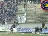 Scontri in campo al termine di L'Aquila-Pescara 9-02-2003 serie C1