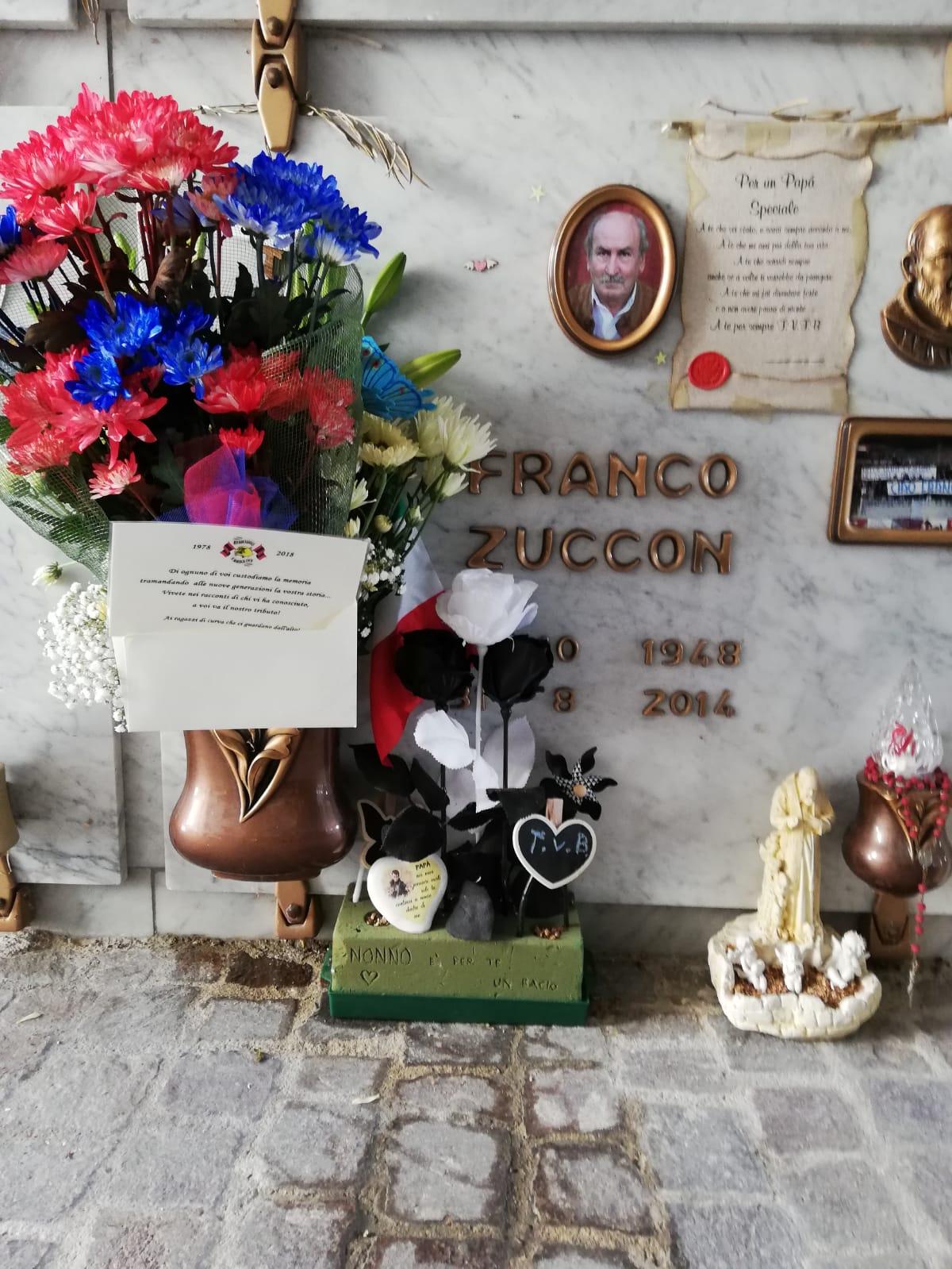 In memoria di Franco Zuccon Sabato 20 Ottobre 2018 in occasione dei 40 anni Red Blue Eagles L'Aquila 1978