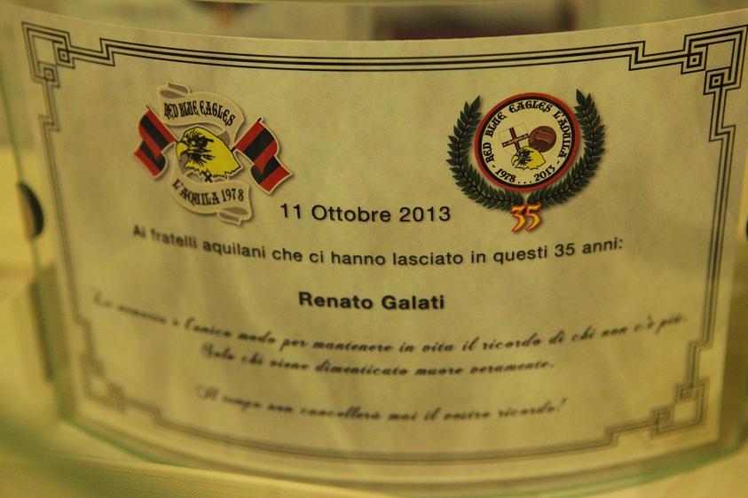 Targa in memoria di Renato Galati Venerdi 11 Ottobre 2013
