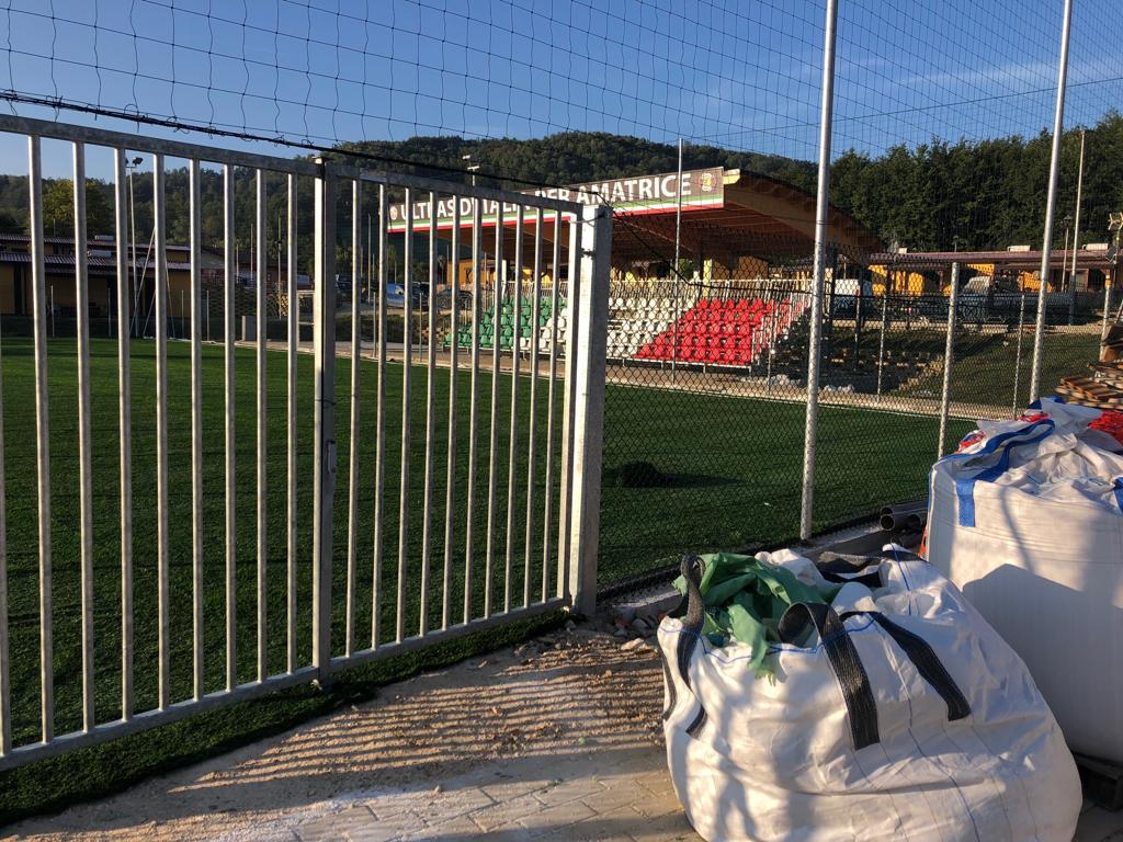 Work in progress tribuna e campi polivalenti