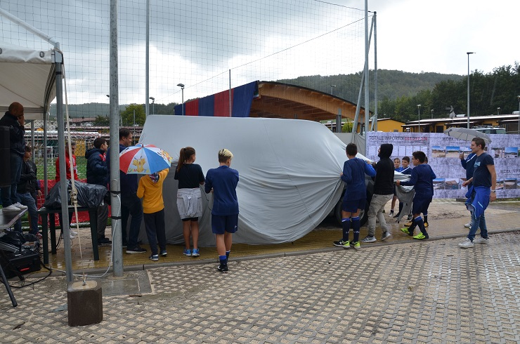 Pulmino 9 posti donato all'A.S.D. Amatrice calcio per le trasferte della prima squadra e per il settore giovanile