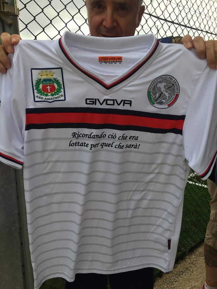 Seconda maglia da gioco stagione 2018/19 donata all'ASD Amatrice calcio