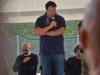"""Venerdi 21 Settembre 2018: inaugurazione progetto """"Ultras d'Italia per Amatrice"""". Intervento presidente A.S.D. Amatrice calcio Tito Capriccioli"""