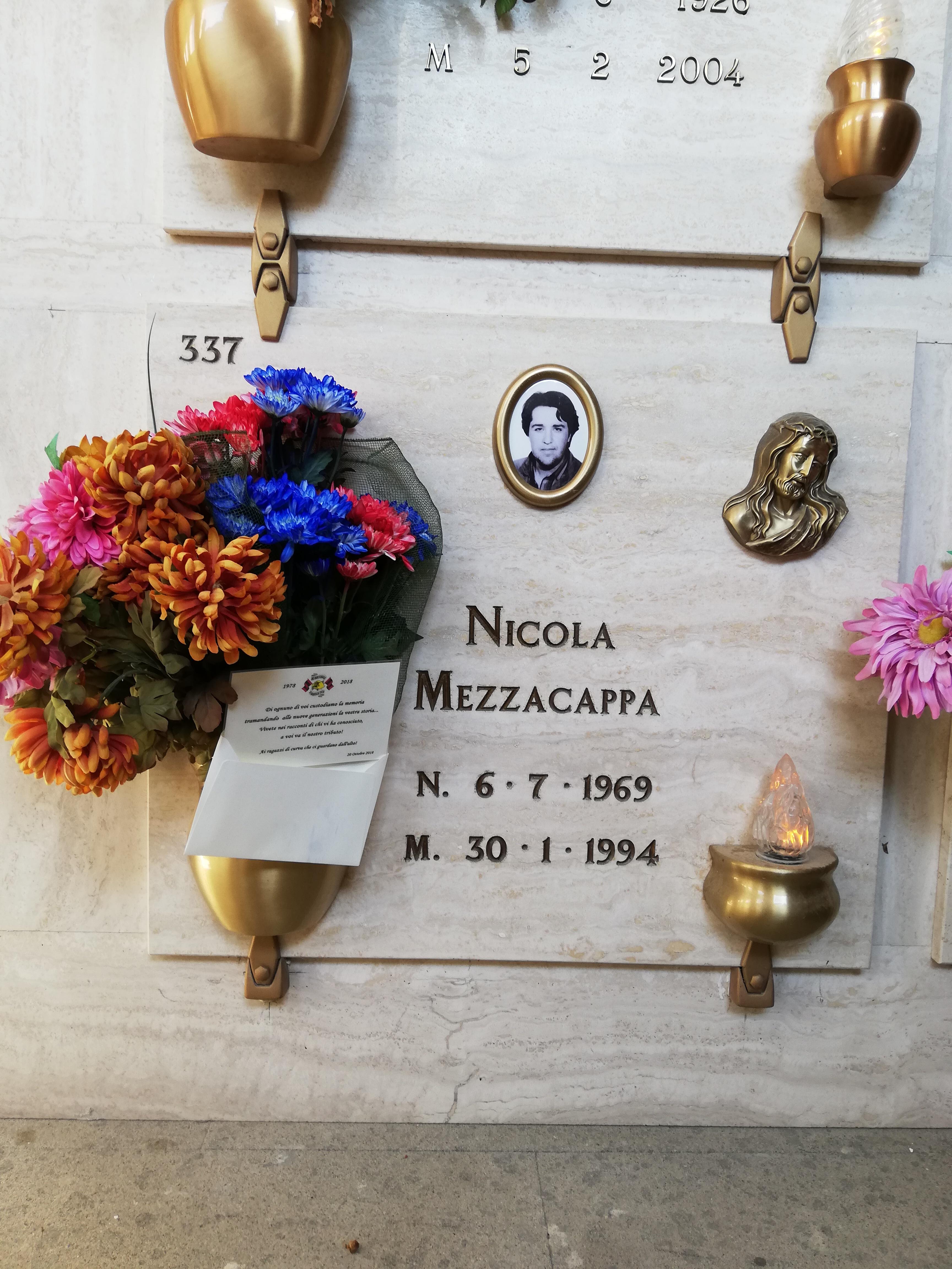 In memoria di Nicola Mezzacappa Sabato 20 Ottobre 2018 in occasione dei 40 anni Red Blue Eagles L'Aquila 1978