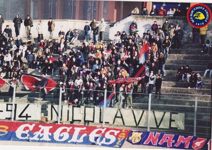 Striscione in memoria di Nicola Mezzacappa anno 2006