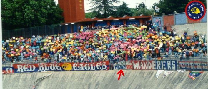 Striscione in memoria di Nicola Mezzacappa anno 1994
