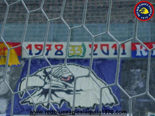 Preparativi dei 33 anni del gruppo Red Blue Eagles L\'Aquila 1978...Domenica 30/10 2011