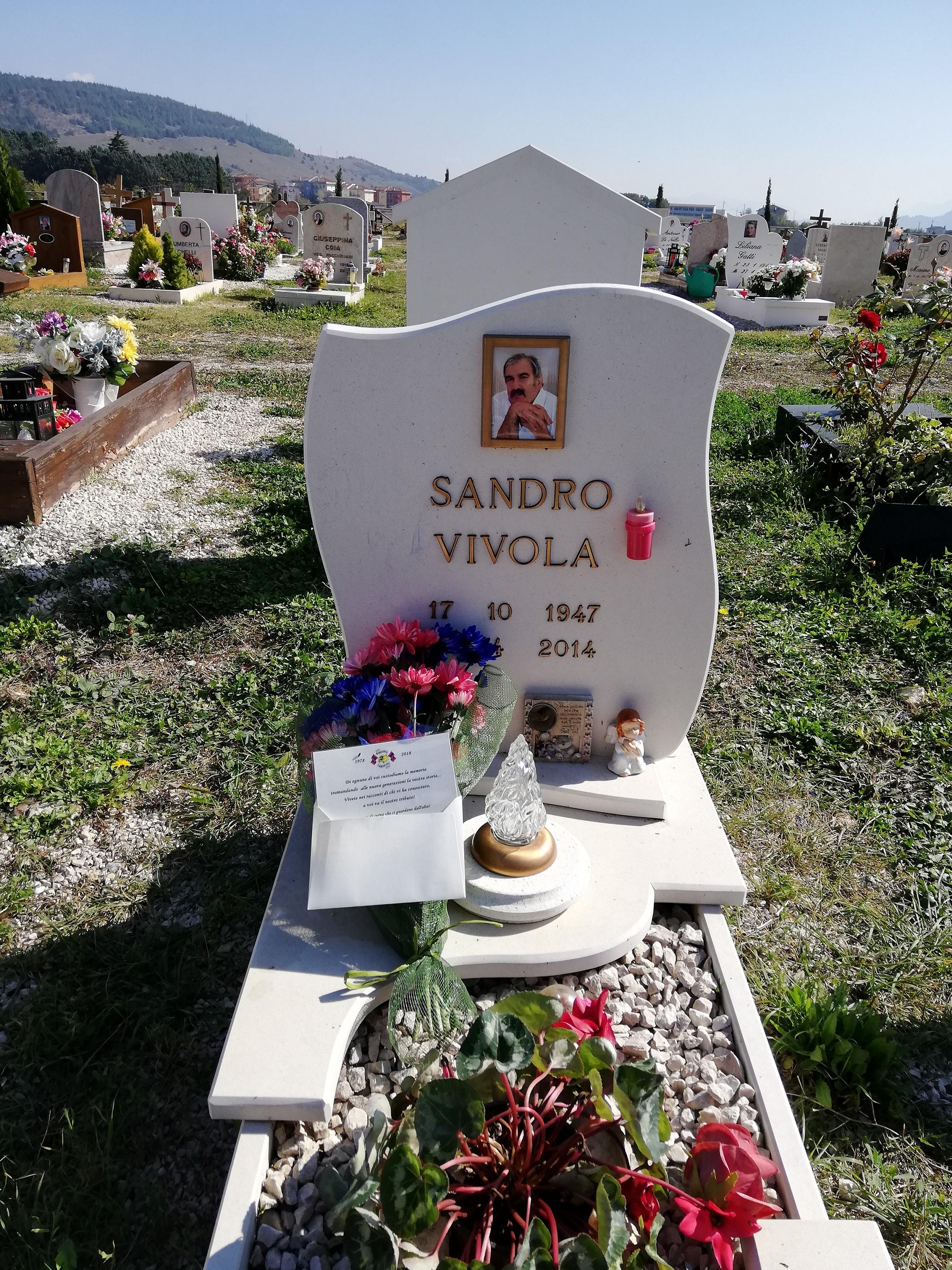 In memoria di Sandro Vivola  Sabato 20 Ottobre 2018 in occasione dei  40 anni Red Blue Eagles L'Aquila 1978