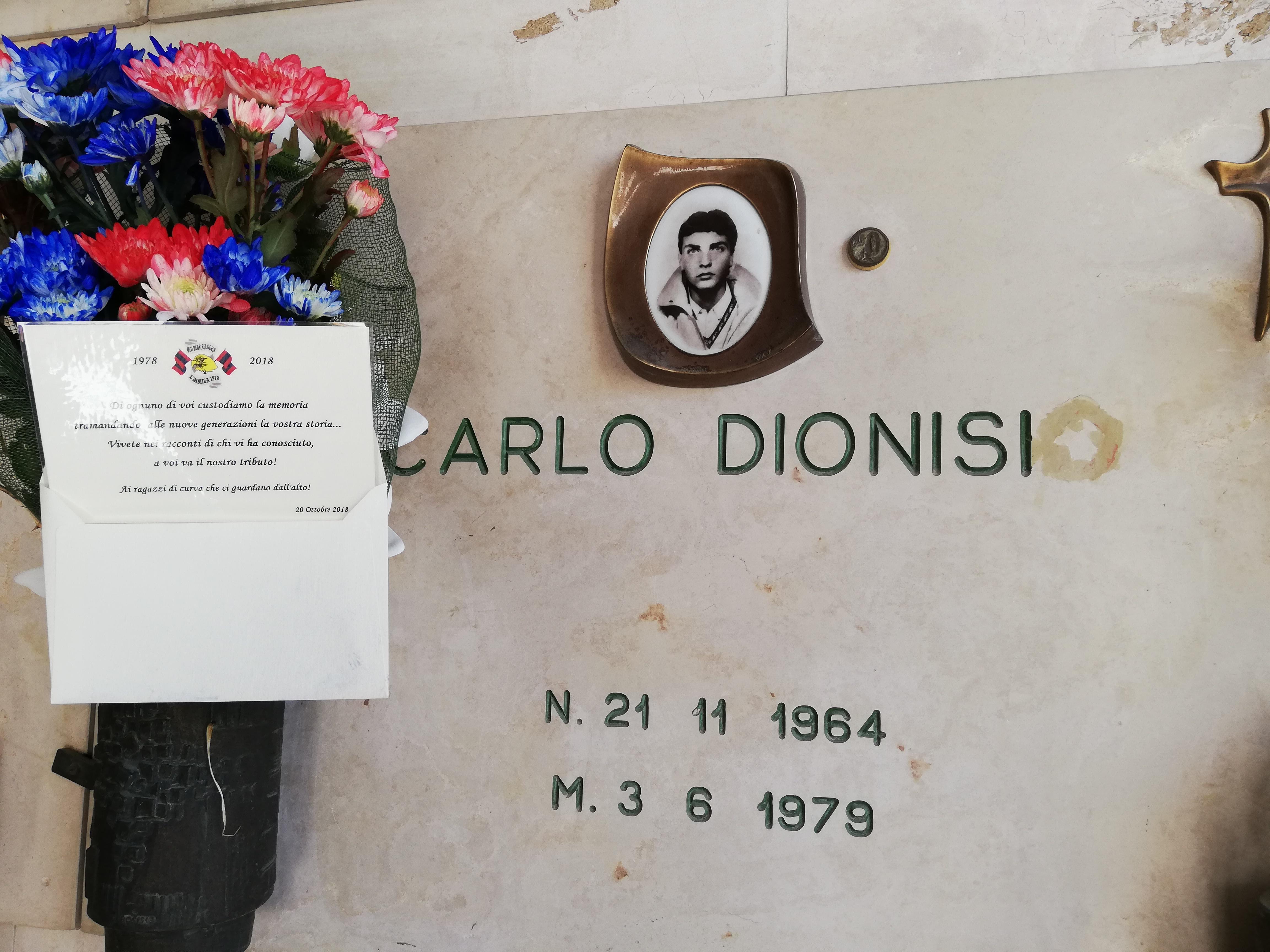 In memoria di Carlo Dionisi Sabato 20 Ottobre 2018 in occasione dei 40 anni Red Blue Eagles L'Aquila 1978