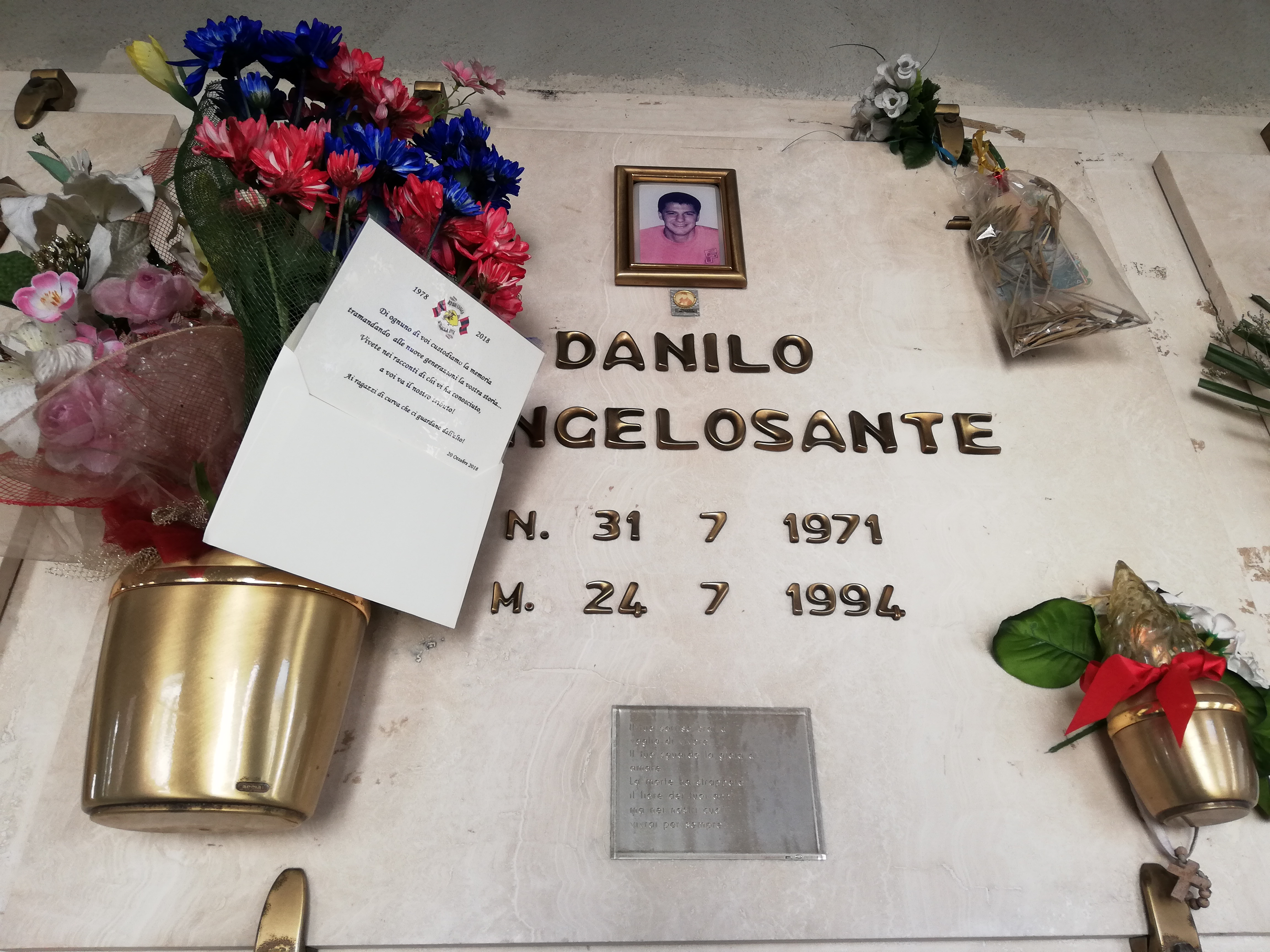 In memoria di Danilo D'Angelosante Sabato 20 Ottobre 2018 in occasione dei 40 anni Red Blue Eagles L'Aquila 1978