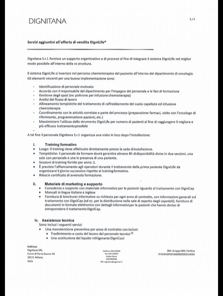 Contratto inerente l'acquisto di 2 macchinari dignicap 14-2-2019