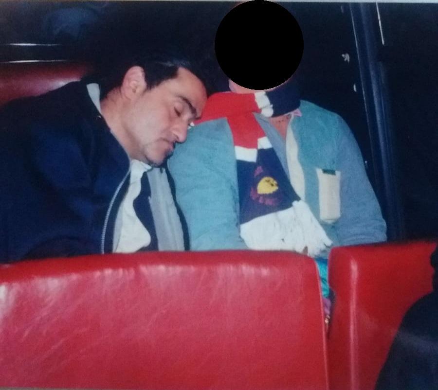 Stefano Valente in trasferta in Sardegna anno 2001