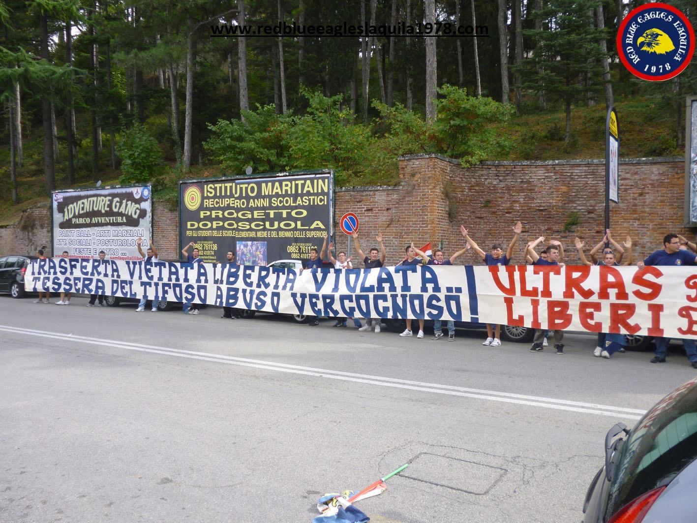 Trasferta vietata libertà violata... tessera del tifoso abuso vergognoso: ultras liberi