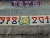 Striscione celebrativo esposto in occasione del 33°anno dalla nascista del gruppo dei Red Blue Eagles L'Aquila 1978