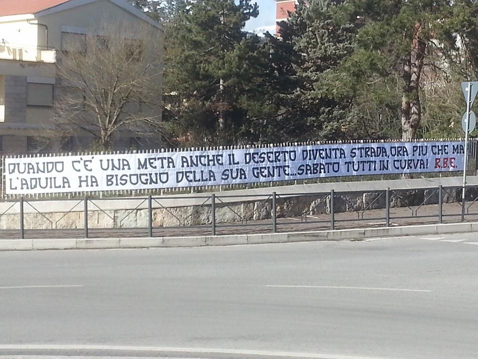Striscioni apparsi in città dopo la penalizzazione di 13 punti 2 Febbraio 2016