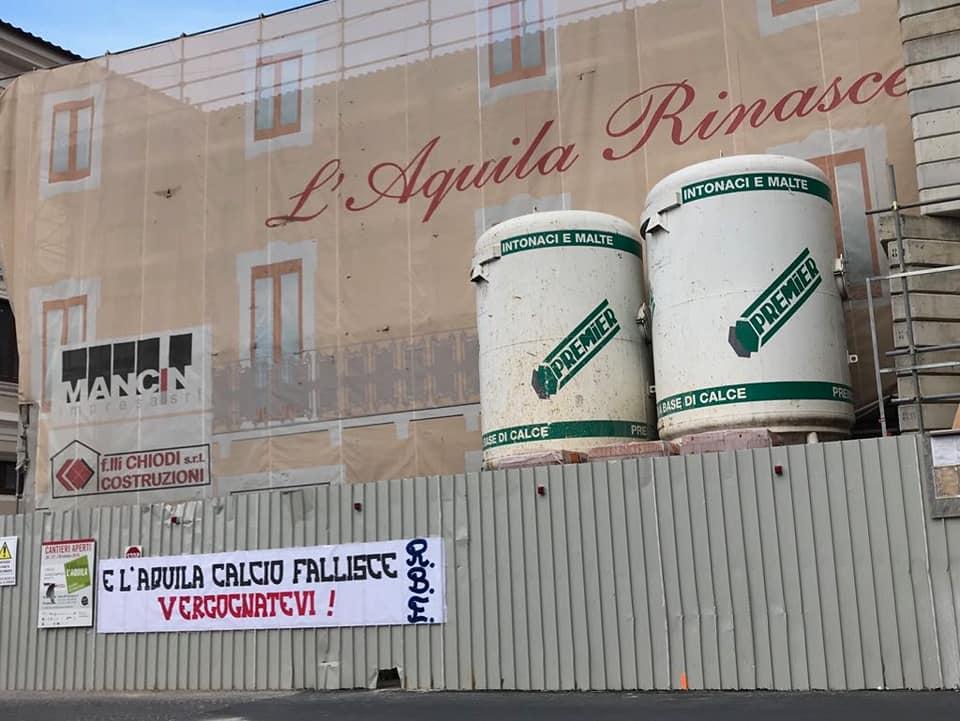 L'Aquila rinasce...e L'Aquila calcio fallisce vergognatevi! 26/7/18