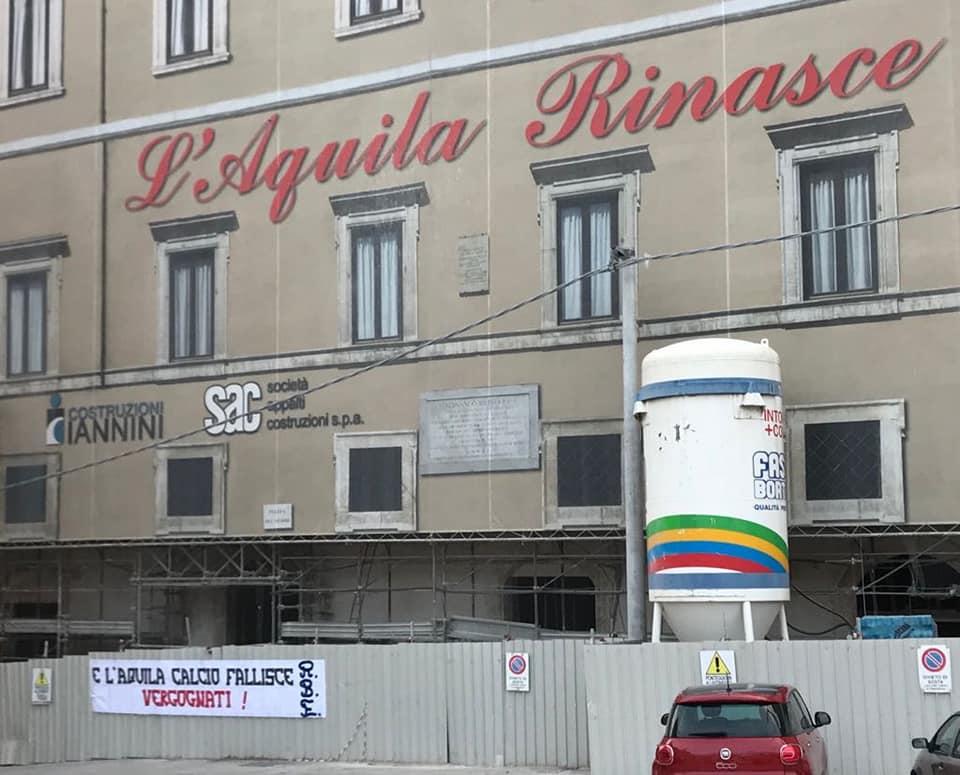 L'Aquila rinasce...e L'Aquila calcio fallisce vergognati! 26/7/18
