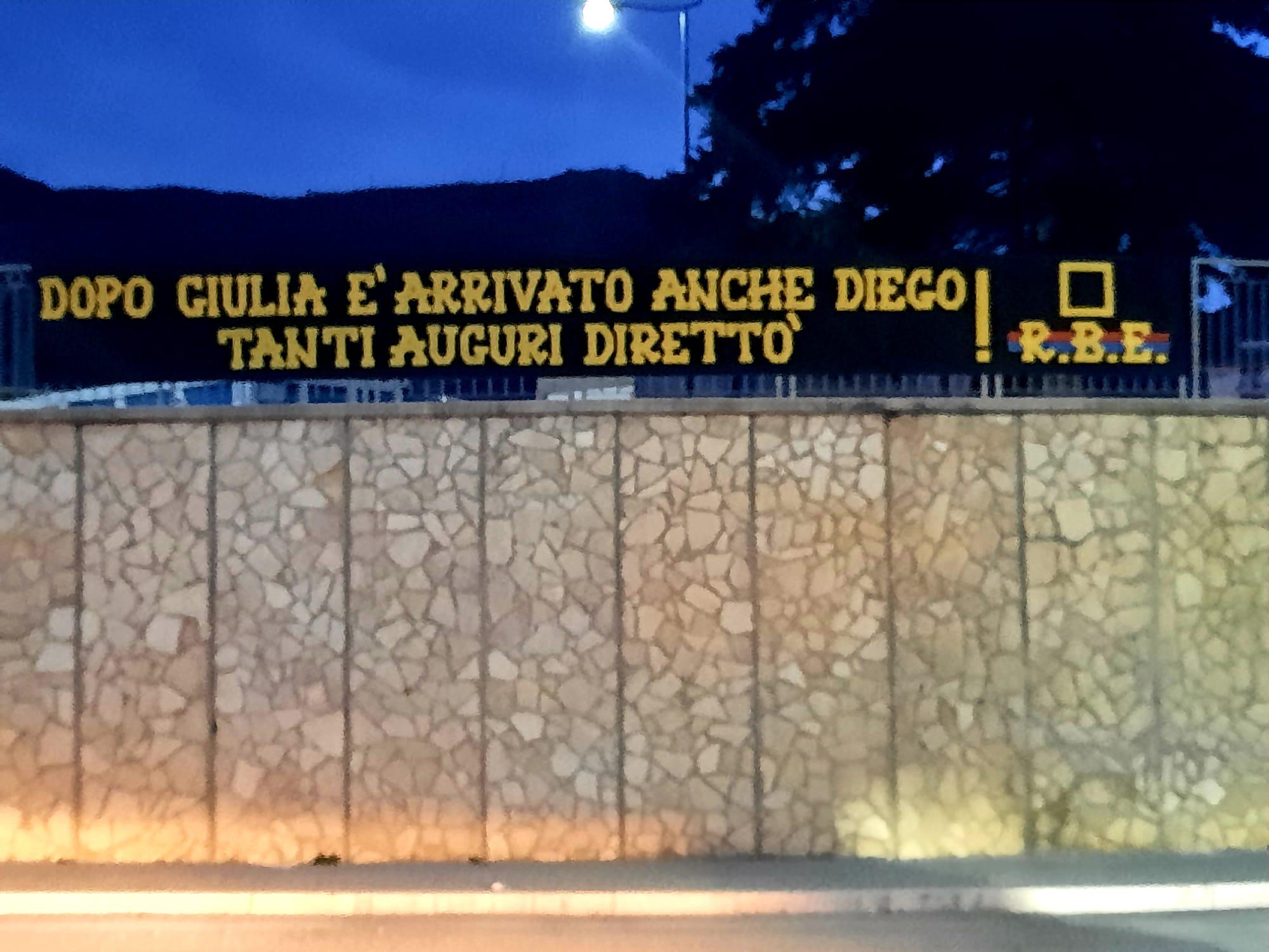 Dopo Giulia è arrivato anche Diego Tanti auguri direttò! 16/02/2021