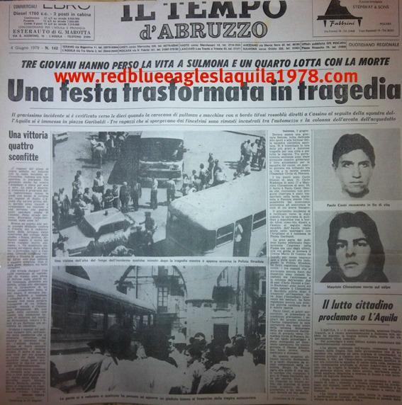 Ritaglio dei giornali dell\'epoca inerenti l\'incidente di Sulmona
